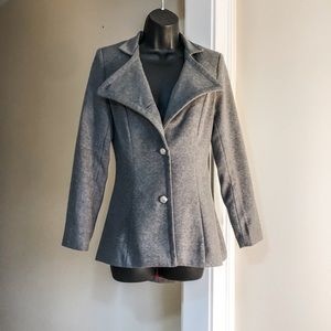 BANDO sz S gray high low red lined jacket
